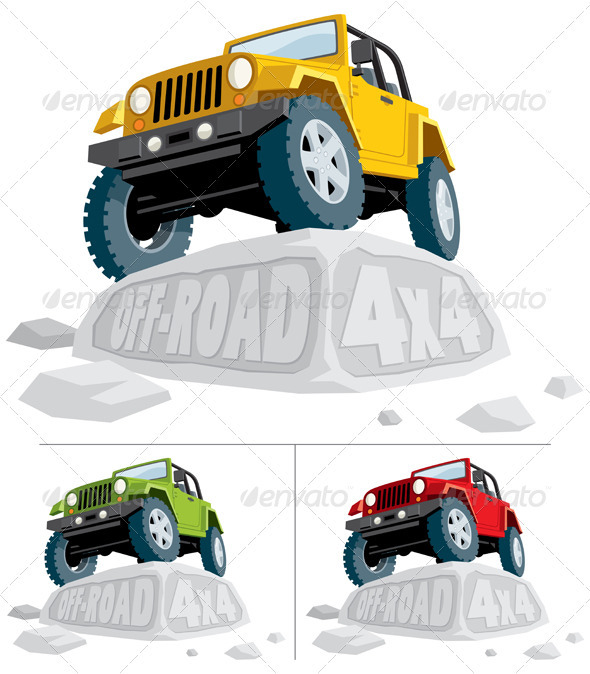 Off-Road 4x4 - Man-made Objects Objects
