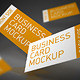 Elegant Mock-up of Flying Business Cards - GraphicRiver Item for Sale