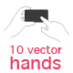 Vector Hand Set - GraphicRiver Item for Sale