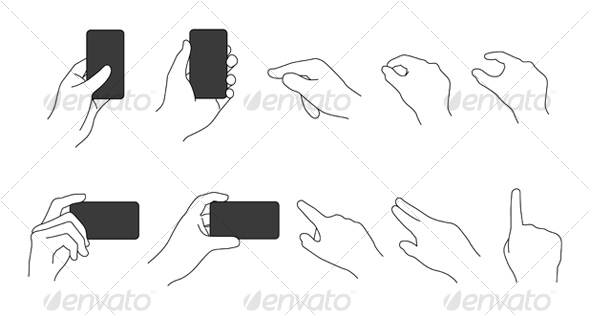 Vector Hand Set - People Characters