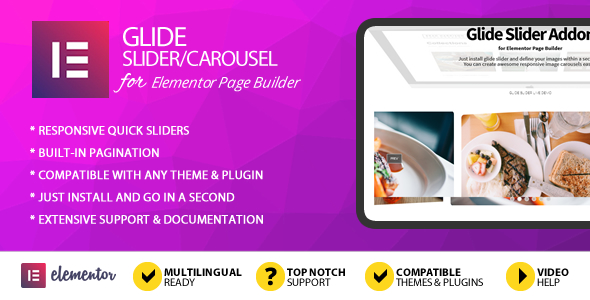 Glide Slider Addon for Elementor Page Builder