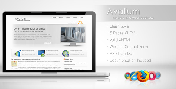 Free Download Avalium - Clean Business Template Nulled Latest Version