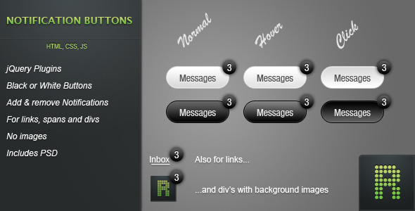 Notification Buttons - CodeCanyon Item for Sale