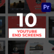 Youtube End Screens for Premiere Pro - VideoHive Item for Sale