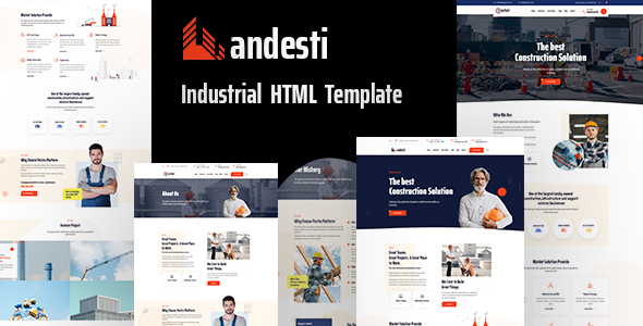Andesti – Industrial HTML Template