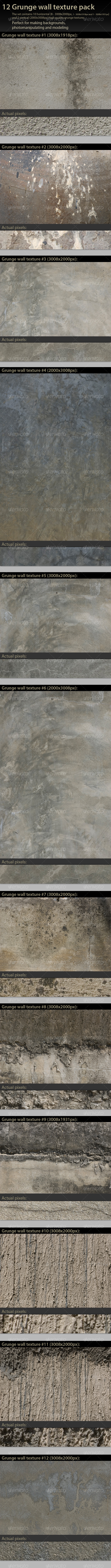 Grunge Wall Texture Pack - Industrial / Grunge Textures