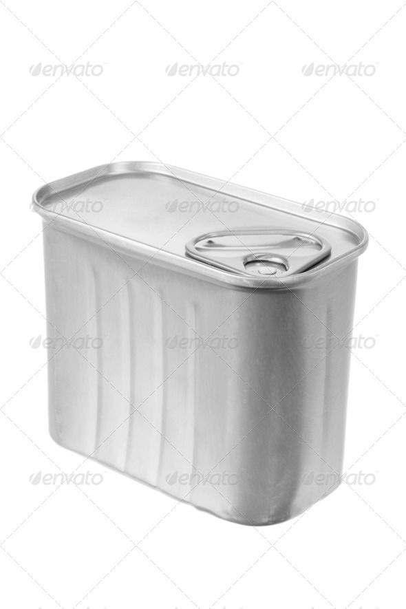Can of Luncheon Meat - Stock Photo - Images