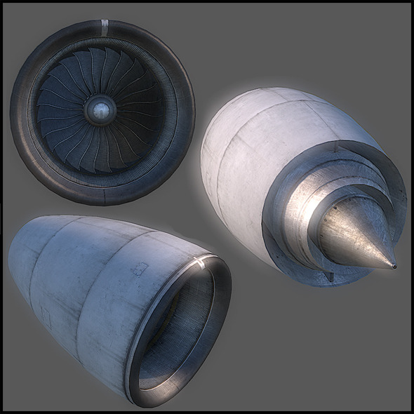 Aircraft Turbine - 3DOcean Item for Sale