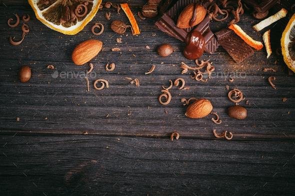 Chocolates background. - Stock Photo - Images