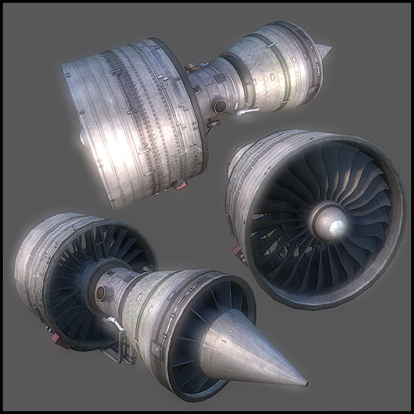 Aircraft Open Turbine - 3DOcean Item for Sale