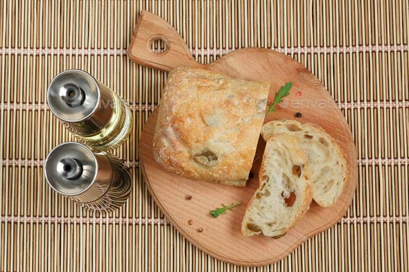 Sliced bread Ciabatta - Stock Photo - Images