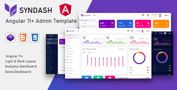 Extraordinary Syndash - Angular 11+ Admin Template