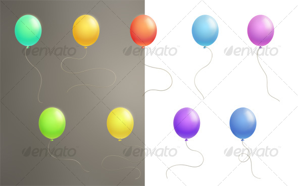 Color Balloons - Objects Illustrations