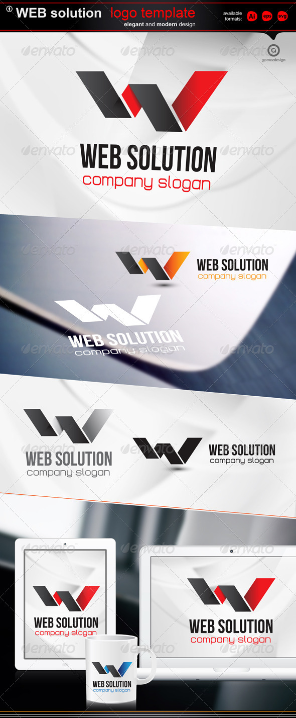 Web Solution - Letters Logo Templates