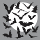 Flying Bats Silhouettes - GraphicRiver Item for Sale