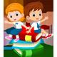 Cartoon Little Kids Friends