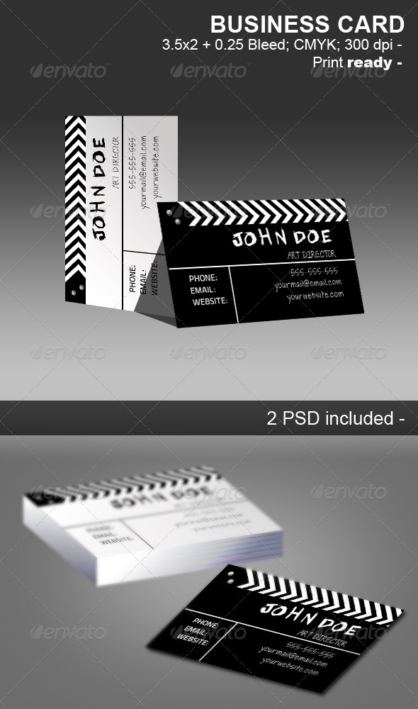 Movie Clapper Businnes Card - Business Cards Print Templates