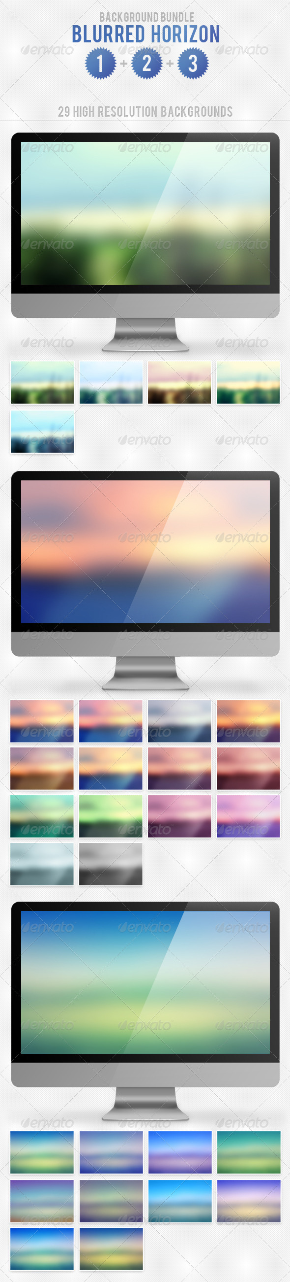 Blurred Horizon Background Bundle - Nature Backgrounds