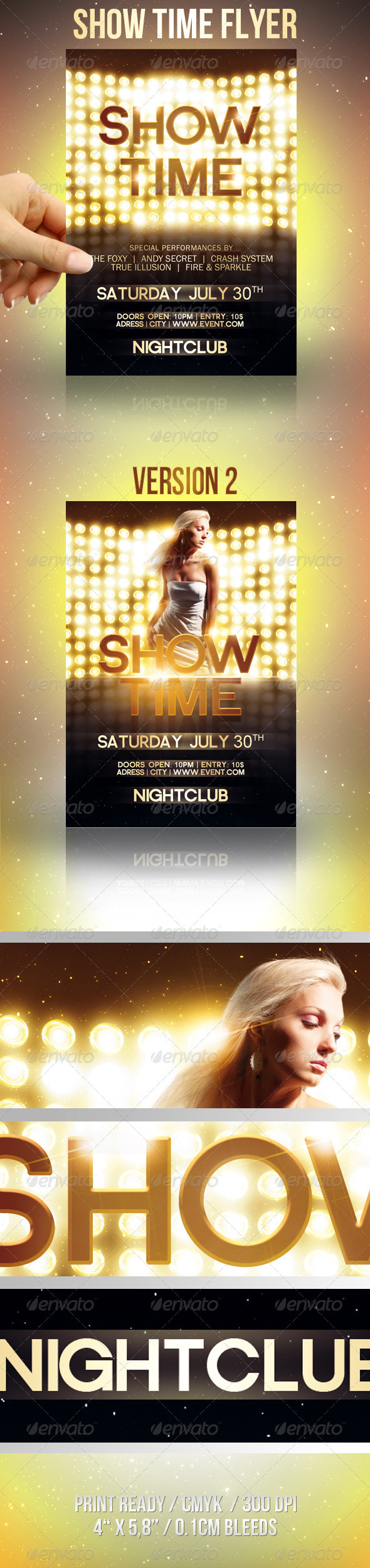Show Time Flyer - Clubs & Parties Events