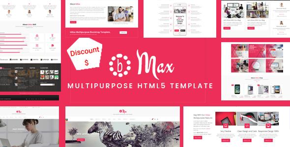 Extraordinary bMax Multipurpose HTML Template