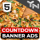 Countdown 5 - Product Sale HTML5 Banner Ad Templates with Live Countdown (GWD, jQuery)
