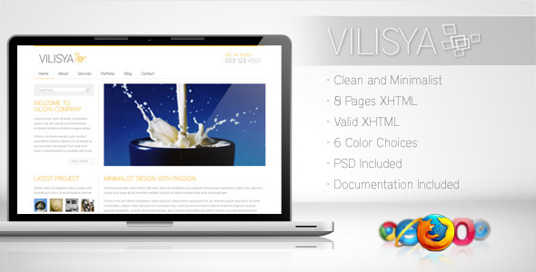Vilisya – Minimalist Business Template 3