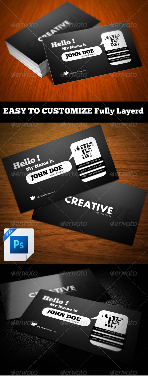 Hello! Business Card  - Corporate Business Cards