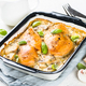 Baked chicken breast with mushrooms in cream sauce - PhotoDune Item for Sale