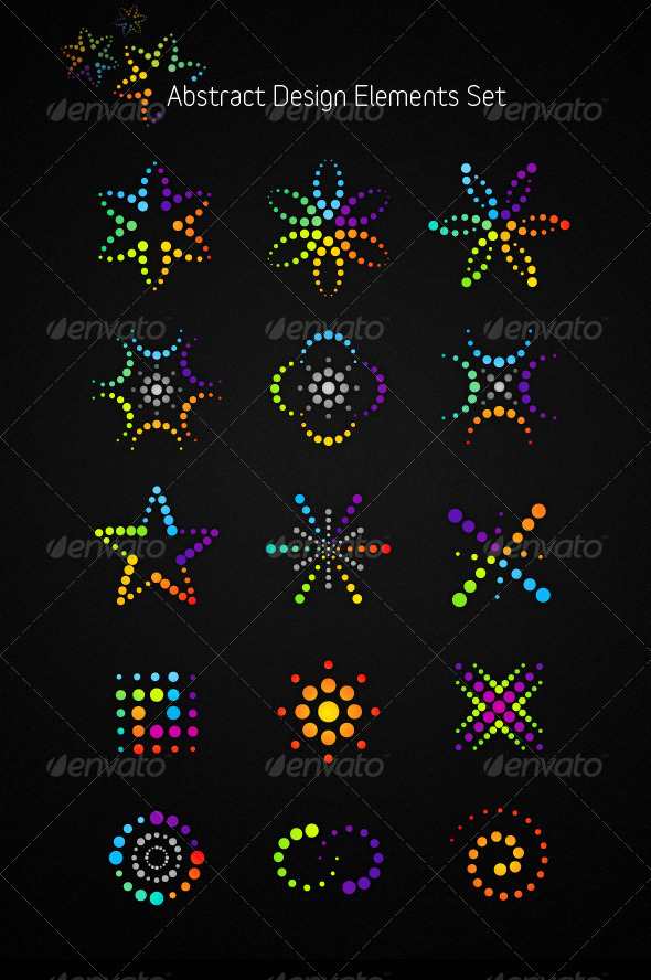 Abstract Vector Design Elements Set - Abstract Conceptual