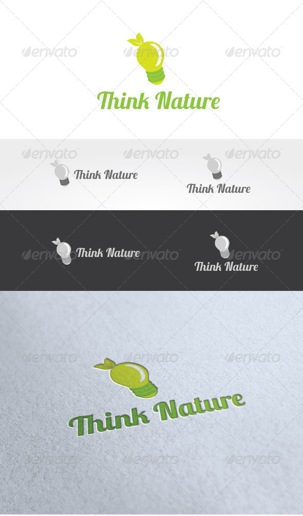 Think Nature Logo Template - Nature Logo Templates