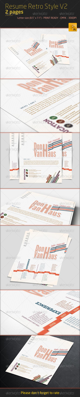 Professional Resume - Retro Style V2 - Resumes Stationery
