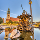 The Neptune Fountain at Alexanderplatz in Berlin at sunrise - PhotoDune Item for Sale