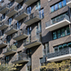 Modern gray apartment building with many balconies - PhotoDune Item for Sale