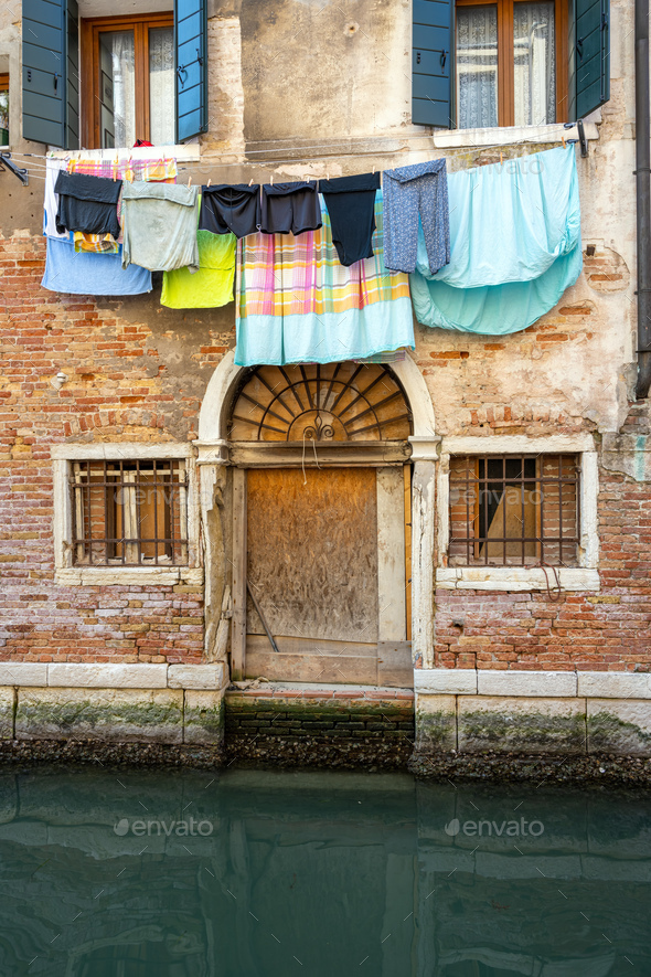 Small canal in Venice - Stock Photo - Images