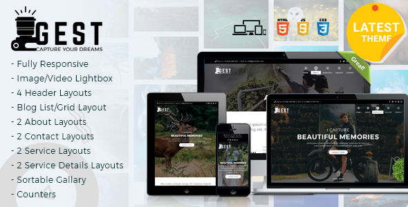 Gest - Photography HTML Template