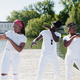 Stylish african american friends in white - PhotoDune Item for Sale