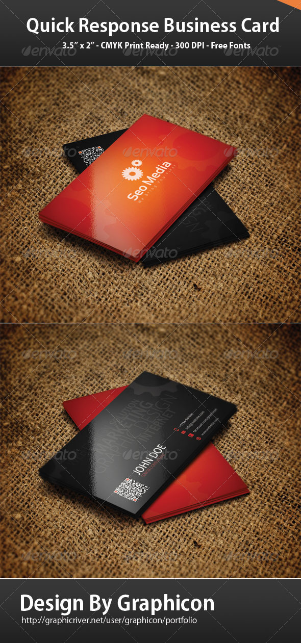 Quick Response Business Card - Corporate Business Cards