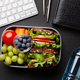 Healthy office lunch box with sandwich and fresh vegetables - PhotoDune Item for Sale