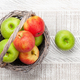 Fresh ripe apples in basket - PhotoDune Item for Sale