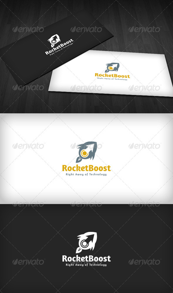 Rocket Boost Logo - Vector Abstract