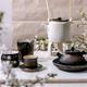 White and black handmade ceramic teapot for tea ceremony - PhotoDune Item for Sale