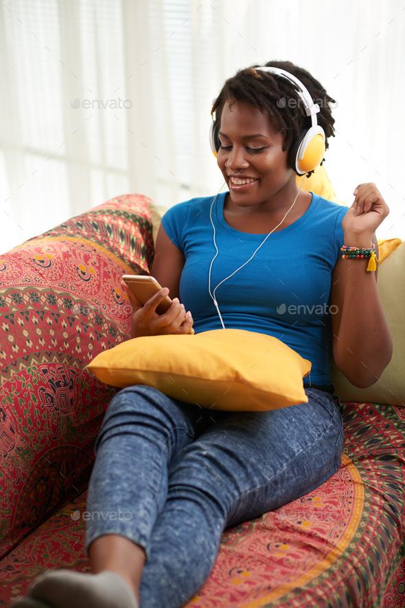 Enjoying music - Stock Photo - Images
