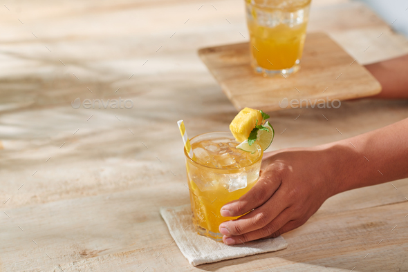 Glass of juice - Stock Photo - Images