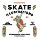 Skate Illustration And Badges