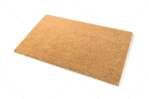 Blank Welcome Mat Isolated on White Background - Stock Photo - Images