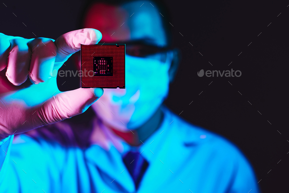 Computer chip - Stock Photo - Images