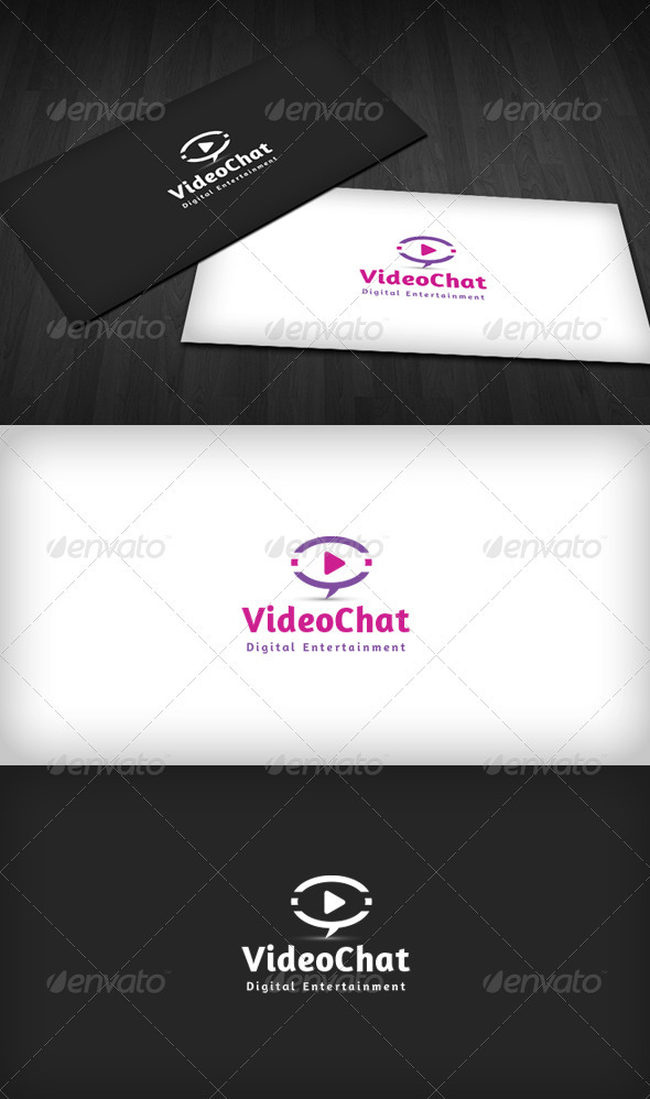 Video Chat Logo - Vector Abstract