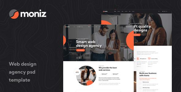 Moniz - Web Design Agency PSD Template