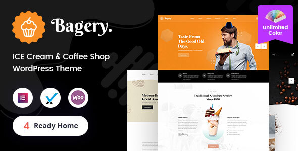 Fabulous Bagery - Ice Cream Shop WordPress Theme