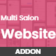 Multi Salon Spa Barber Appointment Booking Website Addon (saas)